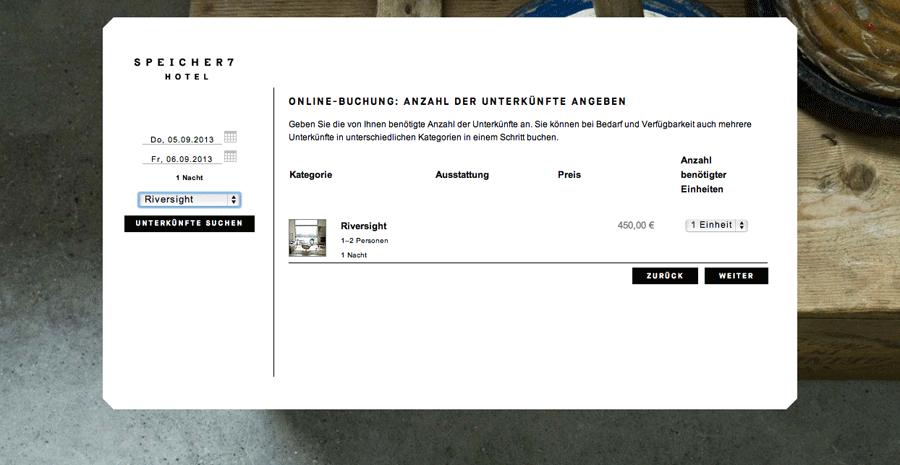 Buchungssystem belegungskalender f r die eigene website for Design hotel speicher 7
